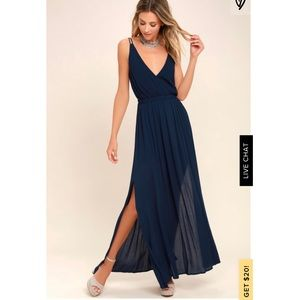 Lost in Paradise Navy Blue Maxi Dress